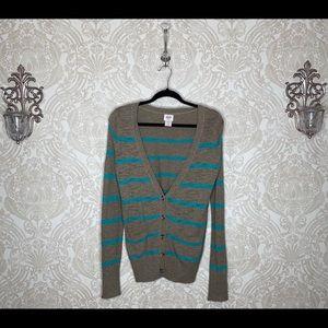Mossimo striped v neck button up cardigan
